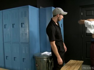 Preview 2 of Young Muscle College Boy Rough Fucks Horny Janitor