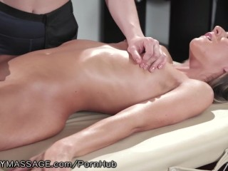 Preview 4 of My Lesbian Teen Masseuse Sat On My Face & Made Me Squirt!