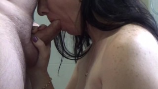 Preview 2 of swallow after huge thick creamy facial
