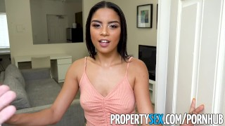 PropertySex - Landlord fucks wife's insane hot younger sister