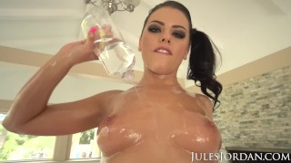 Preview 6 of Jules Jordan - Adriana Chechik Is An Animal 2 Cocks In Her ASS!