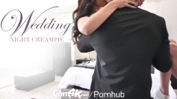 CUM4K Wedding Night Multiple OOZING creampies