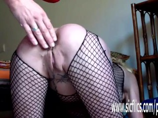 Preview 2 of Gigantic anal dildo fuck and fisting amateur