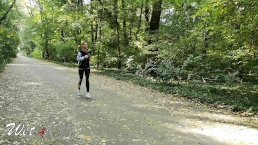 Fit Pornhub babe running in the forest gets fucked by a stranger.4K