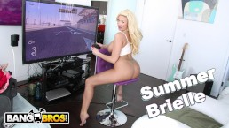 BANGBROS - Busty Blonde MILF Summer Brielle Squirts All Over Mike Adriano