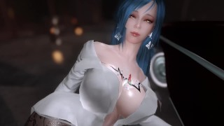 skyrim Succubus seduce passersby in the streets of the night