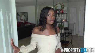 PropertySex - Foxy real estate agent with big natural tits client sex