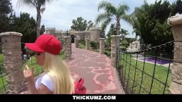 Thickumz - Horny Blonde Twerks Ass and Cruises For Cock