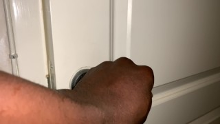 Caught my brothers wife masturbating with hard loud orgasm in the bathroom.
