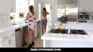 FamilyStrokes - Beautiful Stepdaughter Seduces Her Hot Stepdad