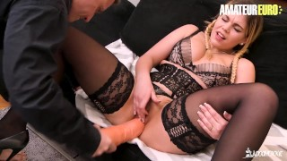 AmateurEuro - Slutty French Teen Shows Off Skills In Her First EVER Porn