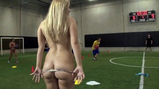 COLLEGE RULES - Teen Coedes Play A Friendly Game Of Strip Dodgeball