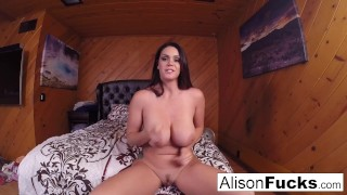Alison Tyler walks around set still horny then masturbates!