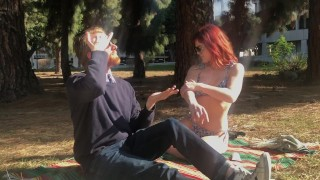 Two Smokin Hot Redheads Get Lathered Up in Public ft. Molly Stewart