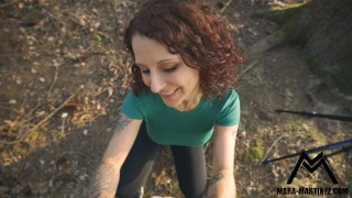 German girl is inseminated outdoor for the first time!