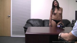 22yo film student Lena debuts on Backroom. This is her 1st time on camera & her 1st casting for the