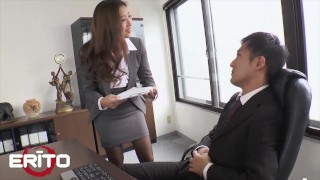 Erito - Sexy Secretary Fucks Her Boss At The Office And Swallows His Hot Cum